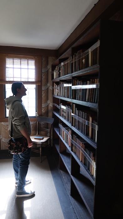 Bookshelves in the Old Manse