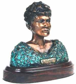 Elizabeth Peratrovich bust by Roy Jr.