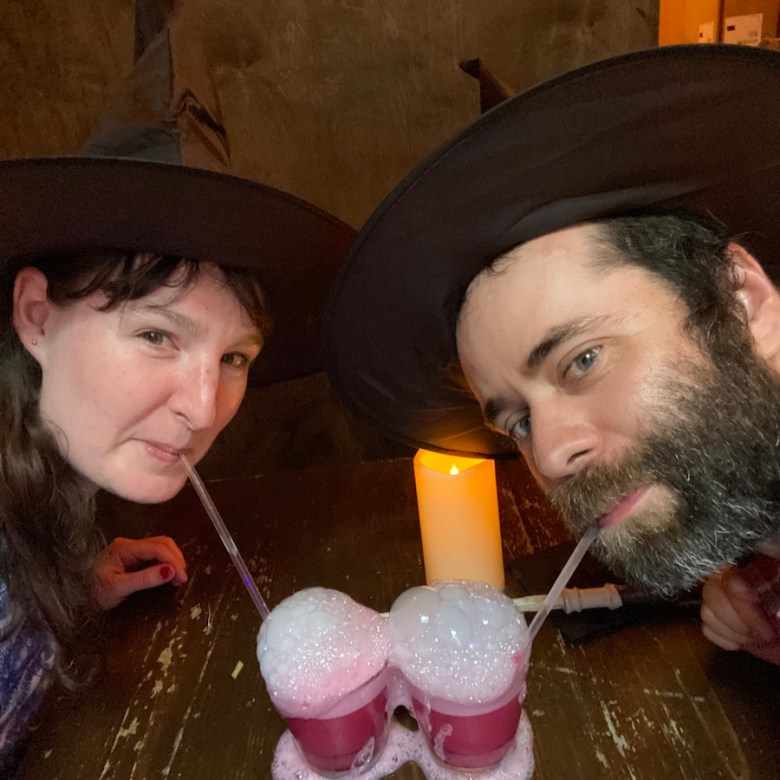 Drinking our second potion at The Cauldron NYC