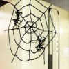 ハロウィンの蜘蛛の巣を手作り!毛糸や切り絵、綿を使った作り方!