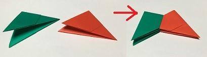 折り紙 クリスマスリース 簡単な折り方