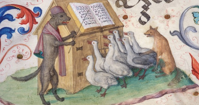 Image result for fox teaching medieval manuscript