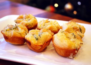 Cheesy Shrimp Puffs
