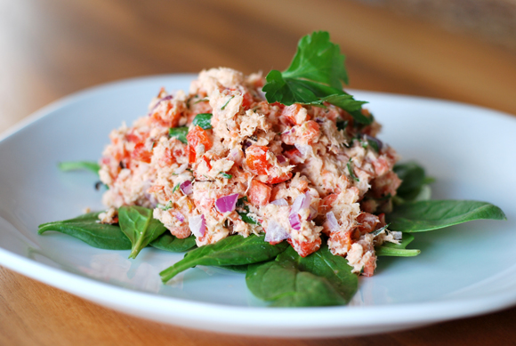Smoked Salmon Red Pepper Salad