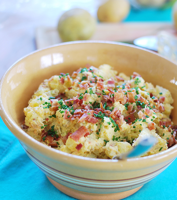 The Ultimate Loaded Potato Salad