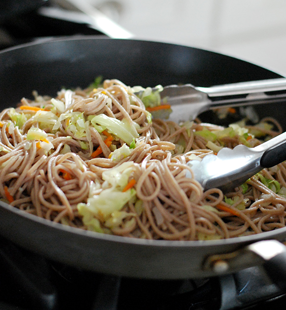 Garlic-Parmesan Soba Noodles Recipe — Dishmaps