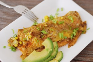 Salmon Green Chile Enchiladas
