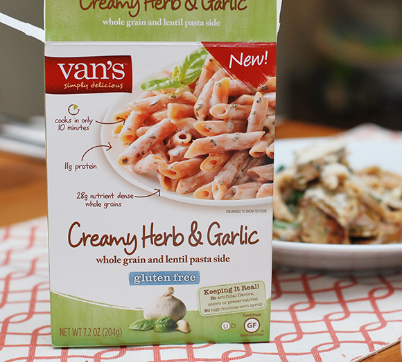Vans Creamy Garlic Pasta with Sausage & Spinach