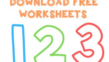 tracing 123 worksheets