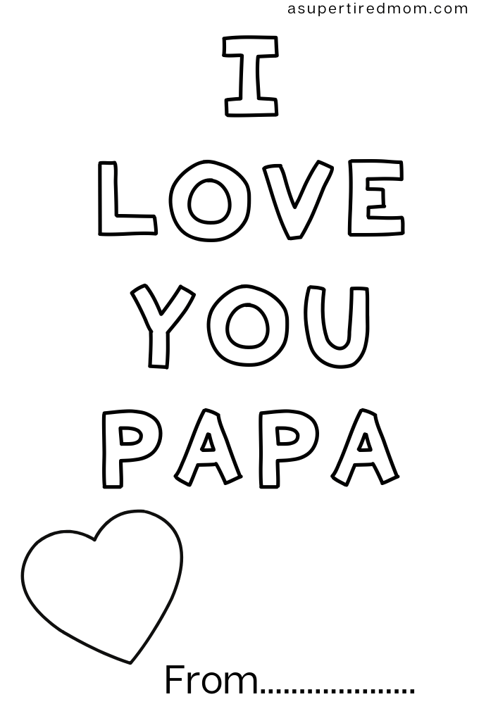 Free father's day coloring pages printable