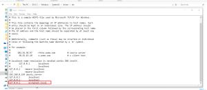 Windows Host File