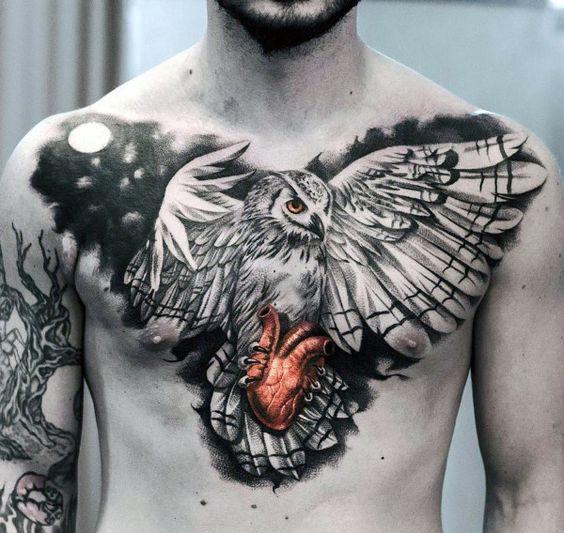 chest tattoo eagle