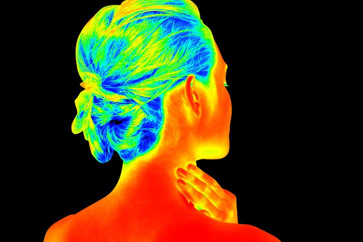 woman back shot like a thermography