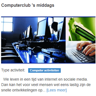 Computerclub 's middags
