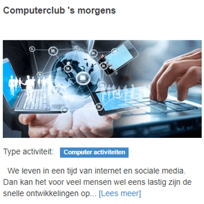 computerclub 's morgens