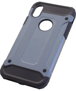 iPhone X Blue Armour Cover Case