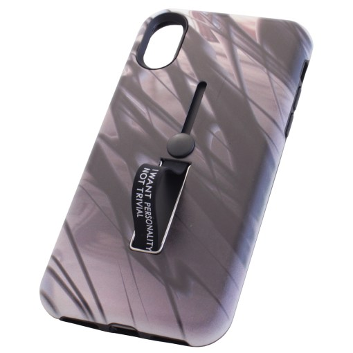 iPhone X Purple and Brown camouflage Cover Case