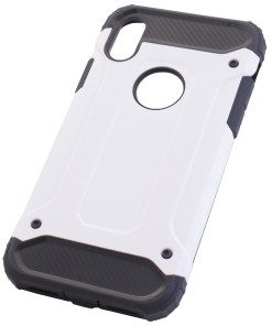 iPhone X White Armour Cover Case