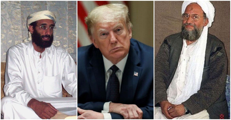 أيمن الظواهري - دونالد ترامب - أنور العولقي