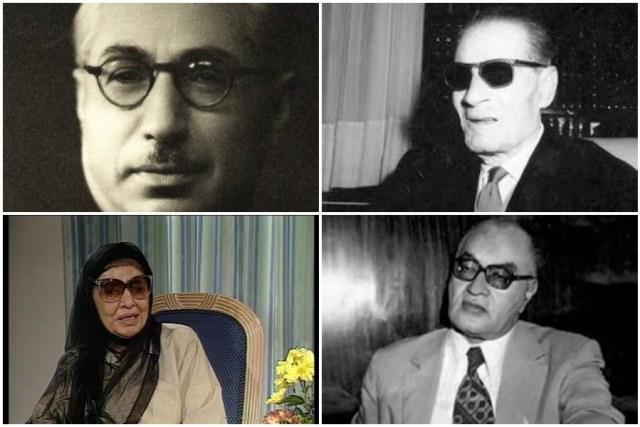 طه حسين ومحمد حسين هيكل وعبد الرحمن الشرقاوي وبنت الشاطئ