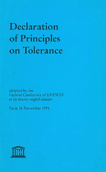 إعلان مبادئ 16 نوفمبر عام 1995 لليونسكو حول التسامح