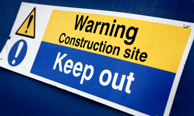 تحذير منطقة بناء