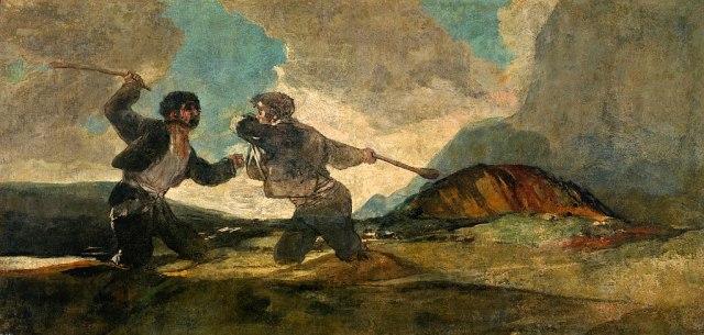 لوحة قتال بالهراوات لفرانثيسكو غويا