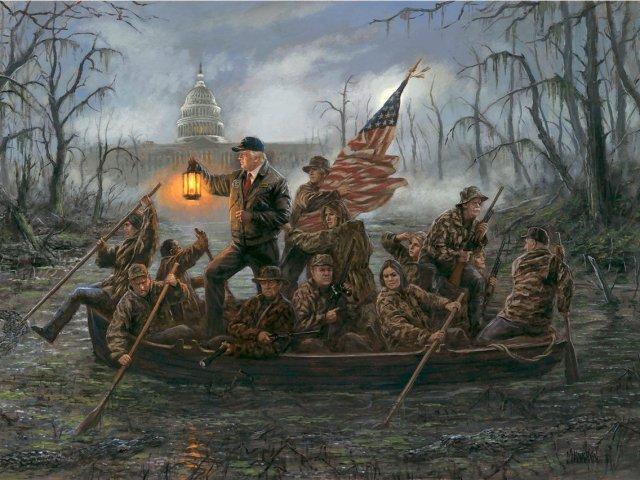 لوحة جون منوتون عن ترامب