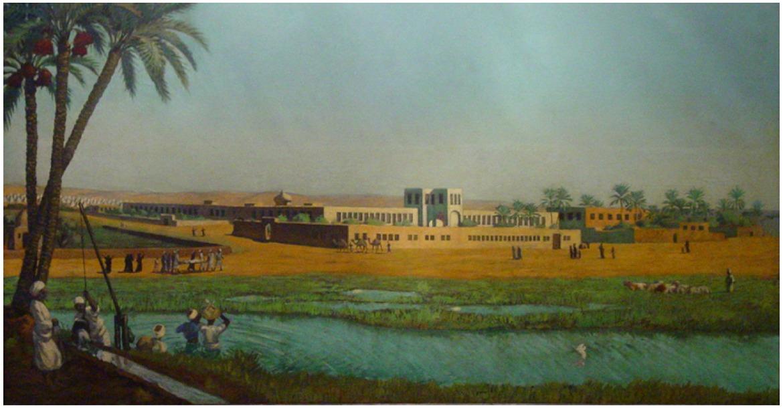 لوحة لمدرسة الطب المصرية عند انشائها