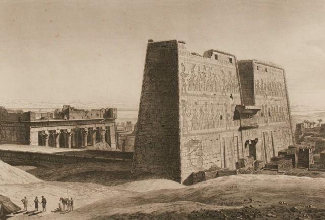 إحدى اللوحات من داخل كتاب وصف مصر