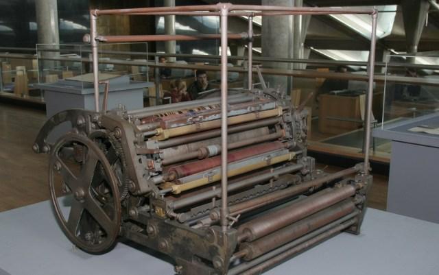إحدى ماكينات مطبعة بولاق القديمة
