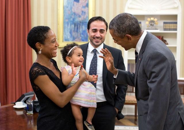 ماهر بيطار بصحبة الرئيس الأمريكي السابق أوباما