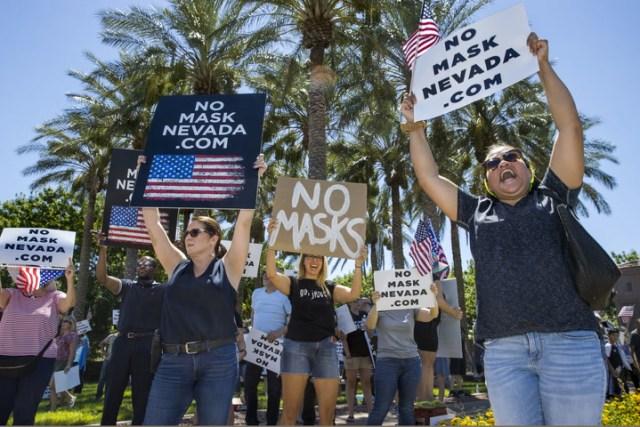 مسيرات لا للقناع في نيفادا