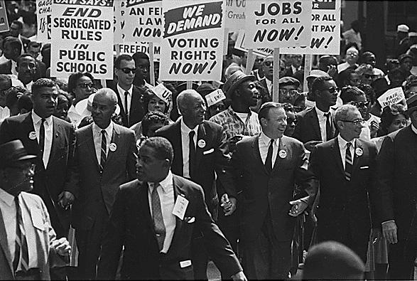 مسيرة ضد العنصرية في أمريكا