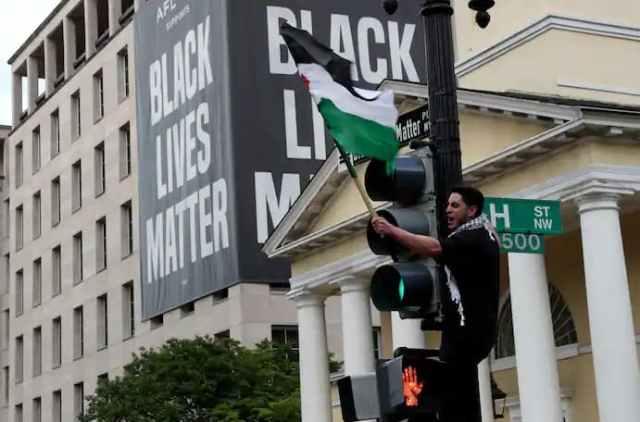 مظاهرات دعم فلسطين في أمريكا