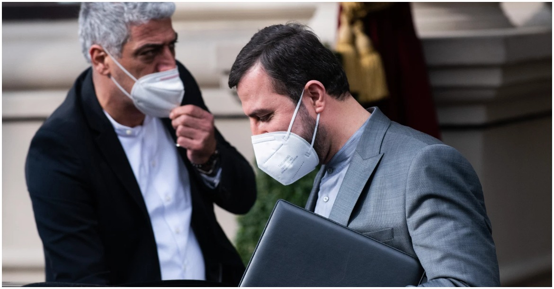 مدير منظمة الطاقة الذرية الإيرانية، كاظم غريب عبادي ، يغادر مكان المحادثات النووية في فيينا