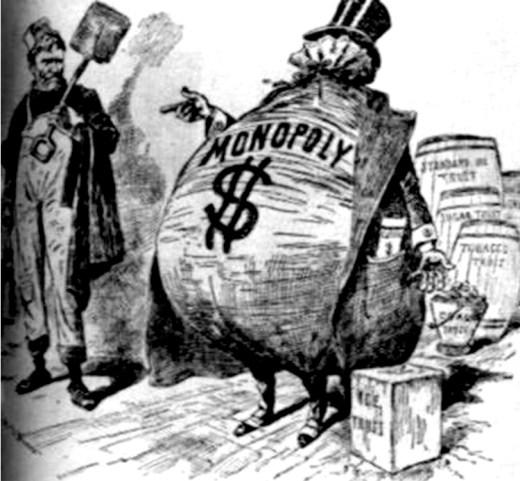 رسومات مناهضة للاحتكار في بداية القرن الـ 20
