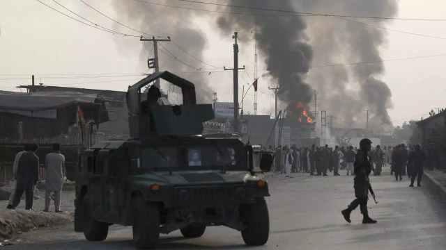 إحدى التفجيرات التي وقعت في كابول وتبنتها حركة طالبان