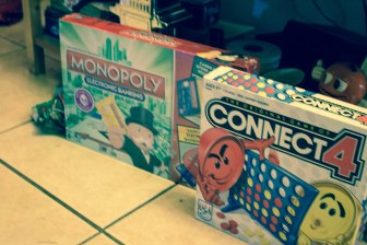 So excited to try these games as a family. I already won at Connect 4 (Queen!).