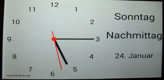 Schwiegermutti und die Uhr