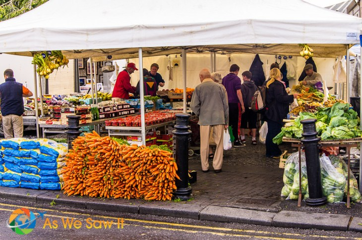 A farmer's market in the town of Galway, Ireland.