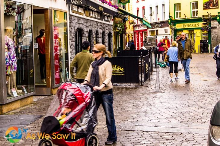Galway's pedestrian area
