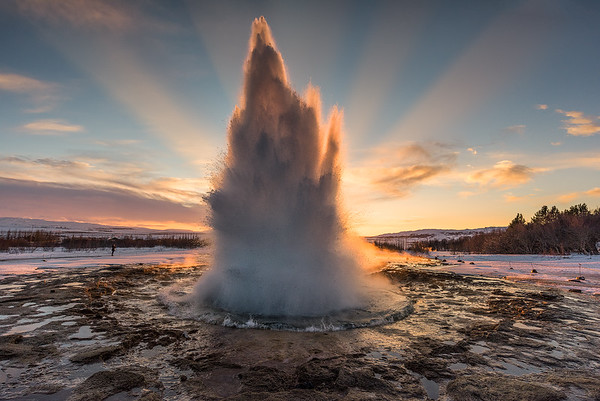 Magnificent Iceland Geyser