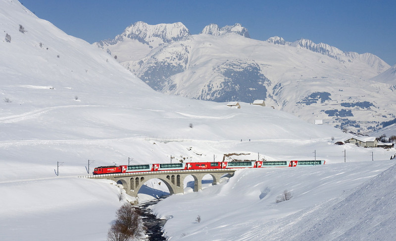 Taking the Glacier Express in Switzerland