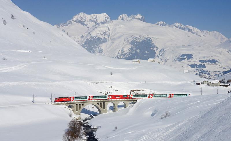 Taking the Glacier Express in Switzerland