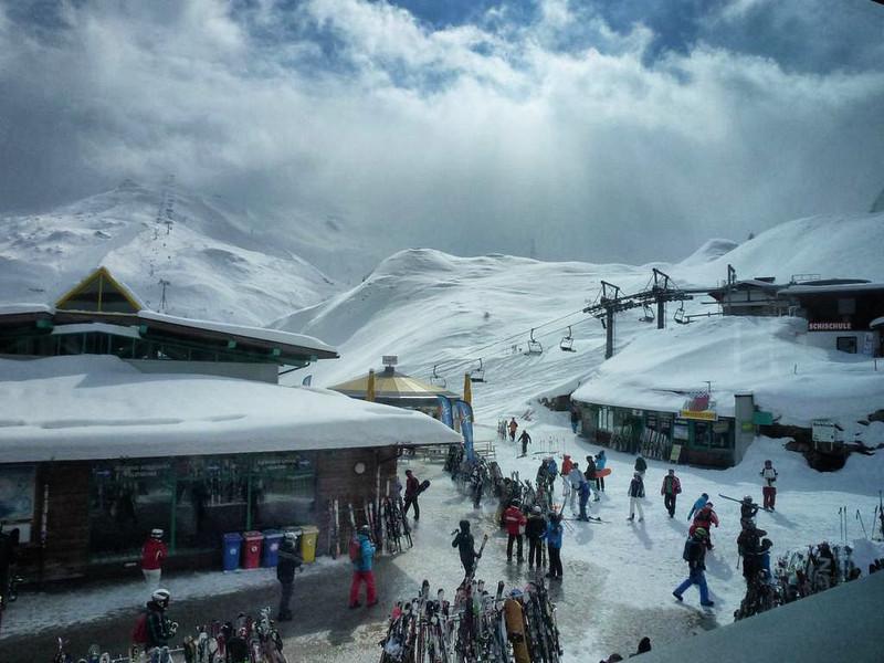 Skiing in Zillertal 3000, Austria
