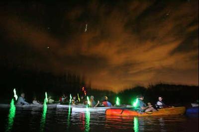 Kayak at night