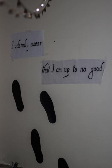 Footprints in Seniors' hallway