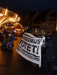 Protest against deportation in Erfurt