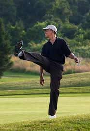 obama on the course
